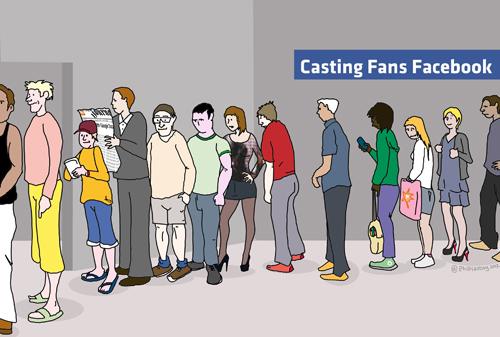 Septembre 2012 -Illustration sur la pratique fréquente des entreprises sur Facebook : l'achat de fans ! Pour l'agence HDS (Avignon) Visible en ligne en cliquant ici