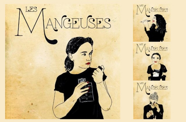 Octobre 2012- Illustrations pour la compagnie de théâtre « Amazones » . Travail collaboratif a quatre mains.